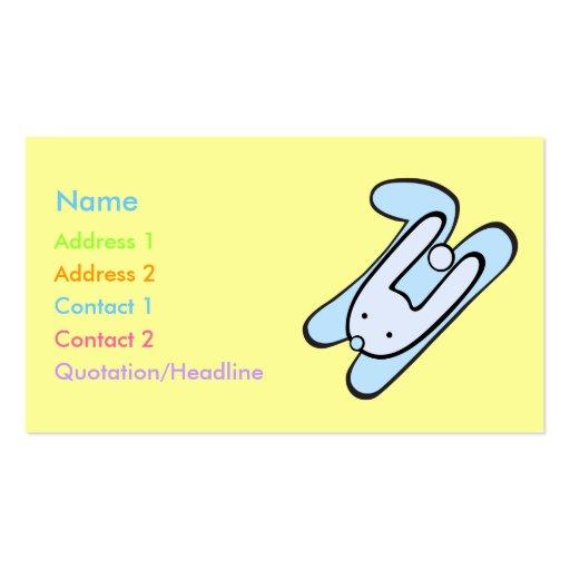 blaues Häschen Visitenkarte