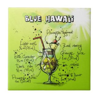 Blaues Hawaii - Cocktail-Geschenk Fliese