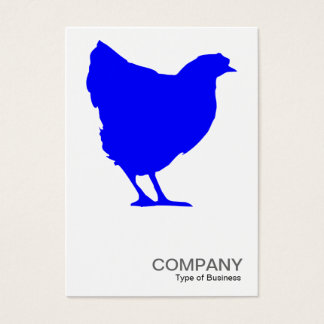 Blaues Henne-Symbol - Weiß Visitenkarte
