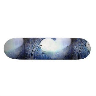 Blaues Herz-Entwurfs-Skateboard Skateboardbrett