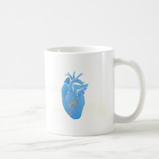 Blaues Herz Kaffeetasse
