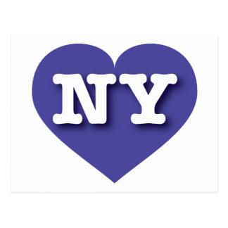 Blaues Herz New York - große Liebe Postkarte