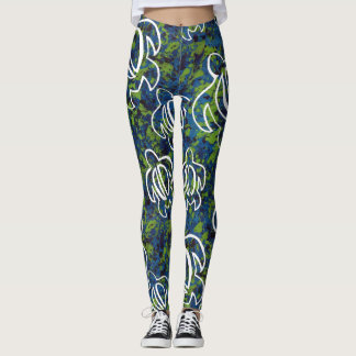 Blaues Honu Leggings