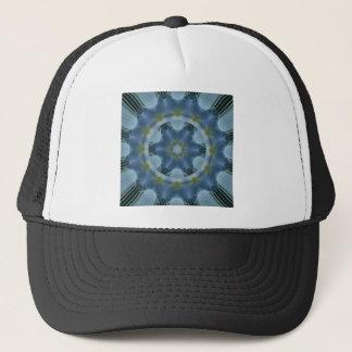 Blaues Hydrangea-Mandala-Bild 16 Truckerkappe