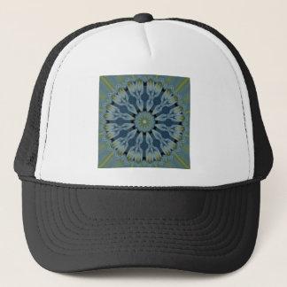 Blaues Hydrangea-Mandala-Bild 5 Truckerkappe