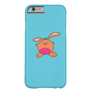 Blaues iPhone6 mit Brown und rosa Häschen Barely There iPhone 6 Hülle