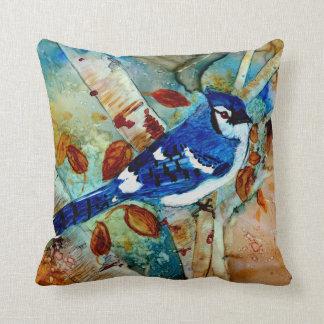 Blaues Jay im Baum Kissen