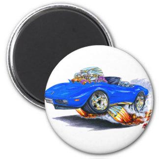 Blaues Kabriolett 1973-76 Korvette Runder Magnet 5,7 Cm