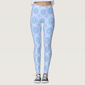 Blaues Kaleidoskop-Muster Leggings