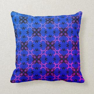 Blaues Kaleidoskopmuster Kissen