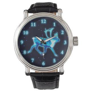 Blaues Karibu (Ren) Armbanduhr