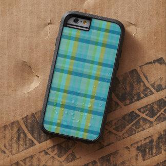 Blaues kariertes durch Shirley Taylor Tough Xtreme iPhone 6 Hülle