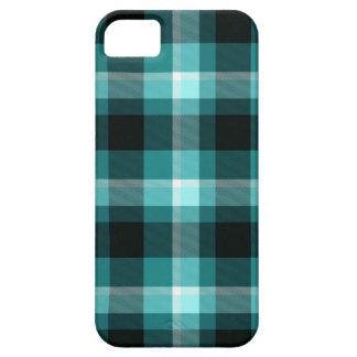 Blaues kariertes Muster Schutzhülle Fürs iPhone 5