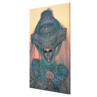 Blaues Karnevals-Kostüm, Venedig Leinwanddruck
