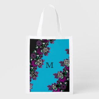 Blaues keltisches mystisches wiederverwendbare einkaufstasche