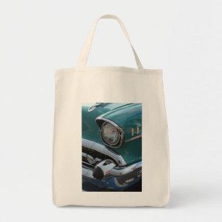 Blaues klassisches Auto Einkaufstasche