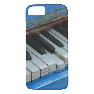 Blaues Klavier iPhone 8/7 Hülle