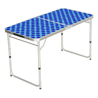 Blaues Klee-Band Beer Pong Tisch