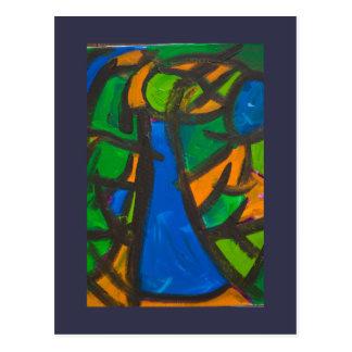 Blaues Kleid Postkarte