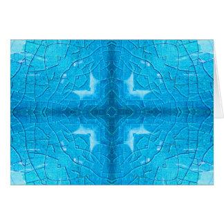 Blaues Knistern-Topf-Kaleidoskop Karte