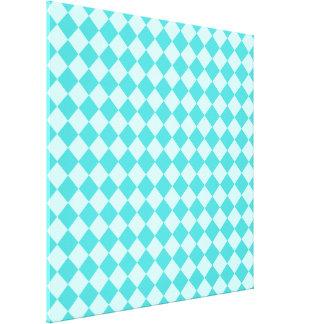 Blaues Kombinations-Diamant-Muster durch Shirley Leinwanddruck
