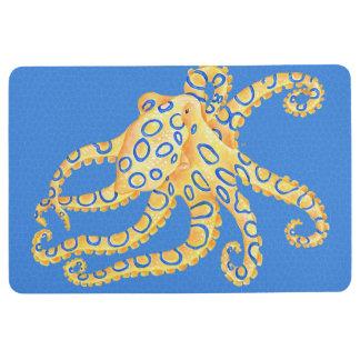 Blaues Kraken-Buntglas Bodenmatte
