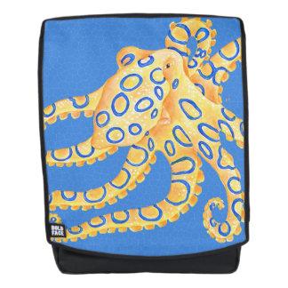 Blaues Kraken-Buntglas Rucksack