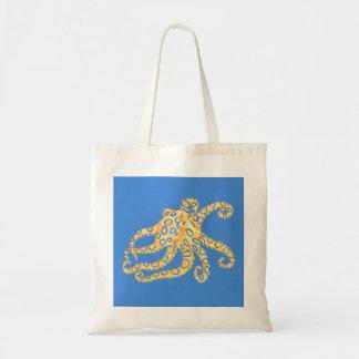 Blaues Kraken-Buntglas Tragetasche