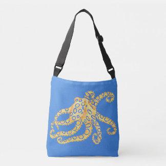 Blaues Kraken-Buntglas Tragetaschen Mit Langen Trägern