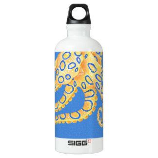 Blaues Kraken-Buntglas Wasserflasche