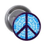 Blaues Krawatten-Friedenszeichen Anstecknadel
