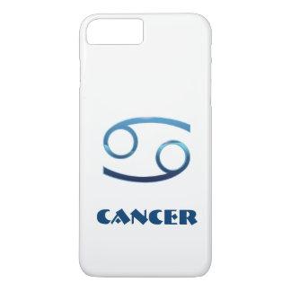 Blaues Krebs-Tierkreis-Zeichen auf Weiß iPhone 7 Plus Hülle