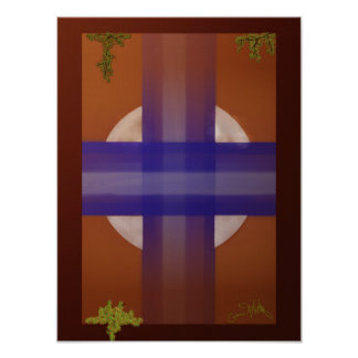 Blaues Kreuz Poster