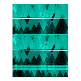 Blaues Kristalleis-Gebirgsmuster Postkarte