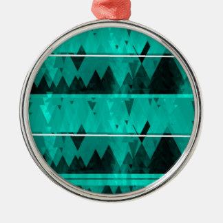 Blaues Kristalleis-Gebirgsmuster Silbernes Ornament