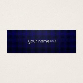 Blaues Kühlergrill Mini Visitenkarte