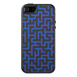 Blaues Labyrinth gemustert OtterBox iPhone 5/5s/SE Hülle