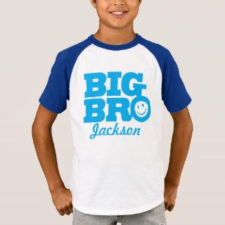 Blaues Lächeln großen bro Namens scherzt T - Shirt