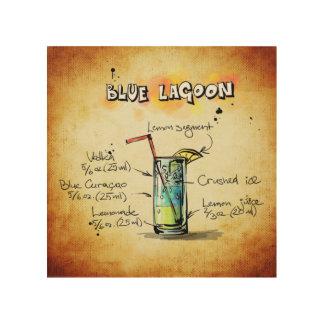 Blaues Lagune-Cocktail-Rezept Holzleinwände