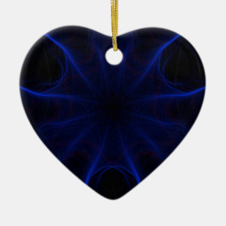 blaues Laser-Muster Keramik Ornament