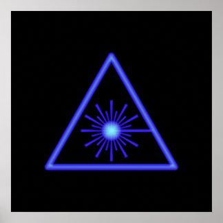 Blaues Laser-Symbol-Plakat Poster