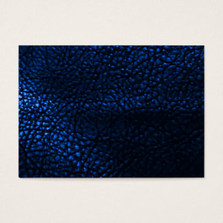 Blaues ledernes Hintergrund-Muster Jumbo-Visitenkarten