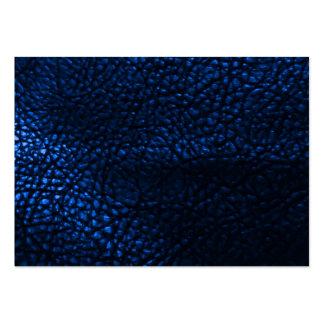 Blaues ledernes Hintergrund-Muster Mini-Visitenkarten