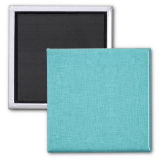 Blaues Leinen Quadratischer Magnet