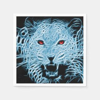 Blaues Leopard-Fraktal Digital Serviette