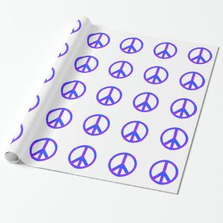 Blaues/lila abstraktes Friedenssymbol Geschenkpapierrolle