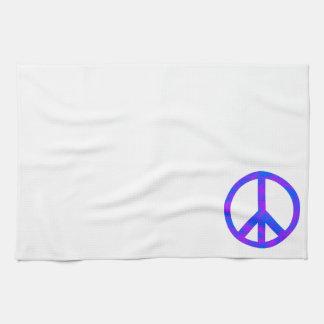 Blaues/lila abstraktes Friedenssymbol Küchenhandtücher
