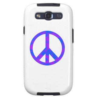 Blaues/lila abstraktes Friedenssymbol Schutzhülle Fürs Galaxy SIII