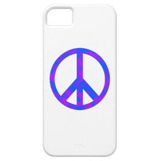 Blaues/lila abstraktes Friedenssymbol Hülle Fürs iPhone 5