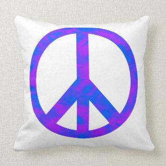 Blaues/lila abstraktes Friedenssymbol Zierkissen